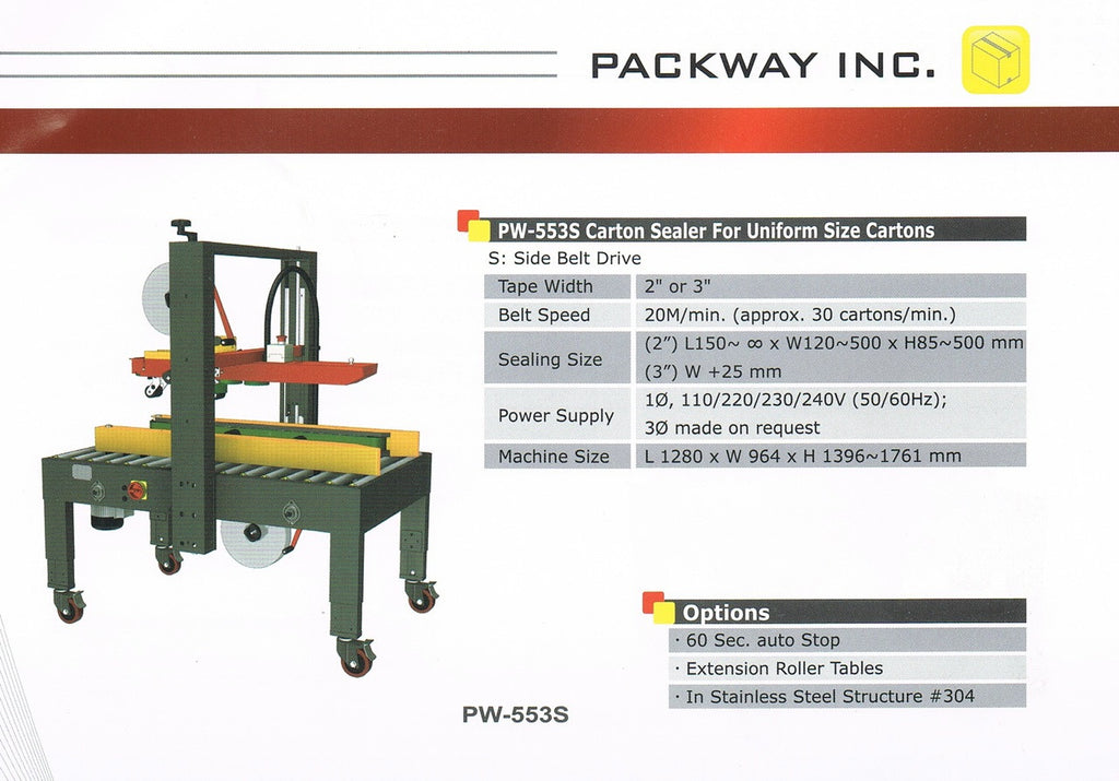 Packway PW-553S - Packaging Machines - Allpack - Packaging - Technologies