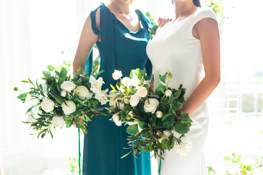 best wedding bouquets 2019 green and white artificial