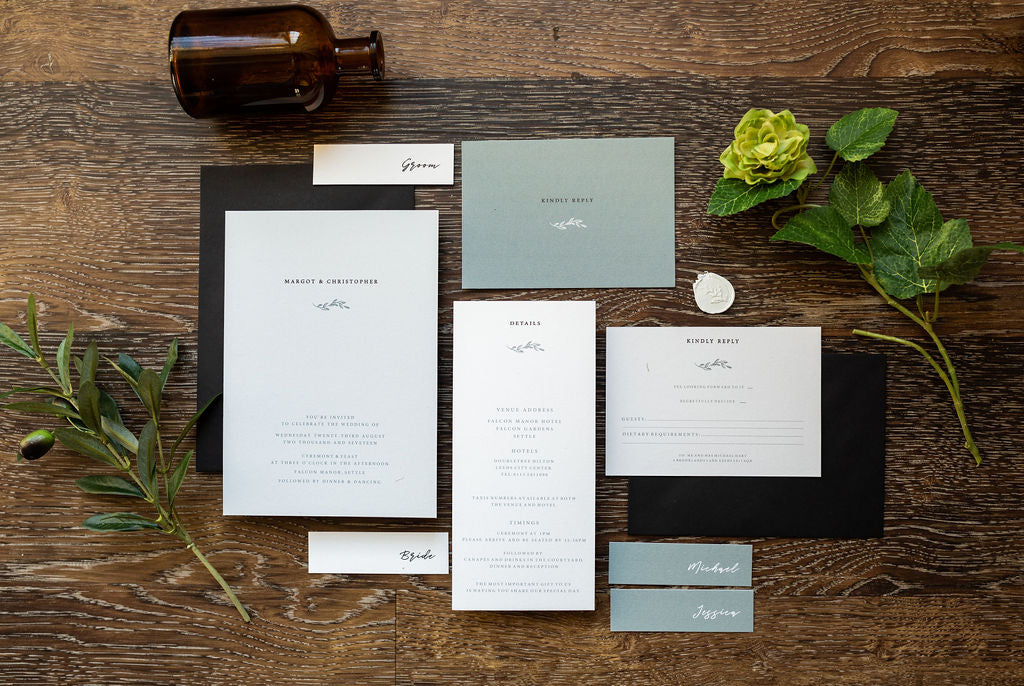 wedding invite modern