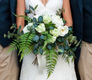 artificial wedding bouquet eden barn yorkshire silk flowers