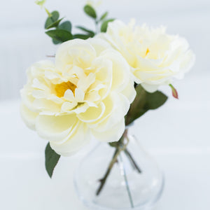white faux flowers gifts roses