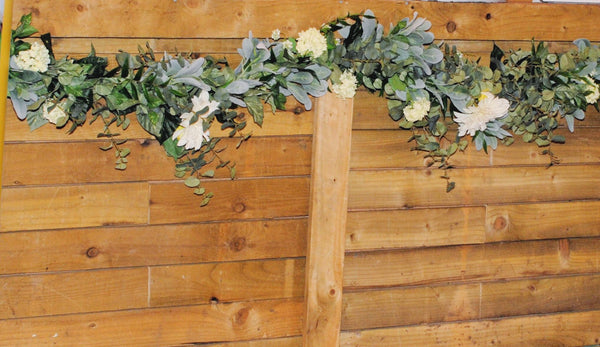 artificial garland hire uk yorkshire wedding flowers