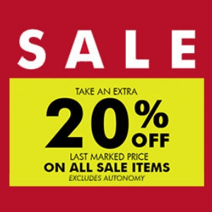 SALE ! Extra 20% Off