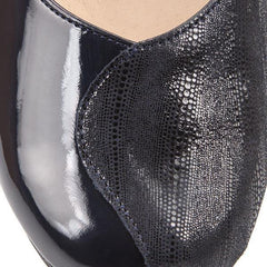Mixed Leather Court Shoes