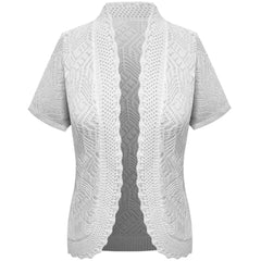 White Knitted Light Cardigan