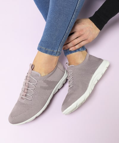 Nude Slip-On Trainer Shoe