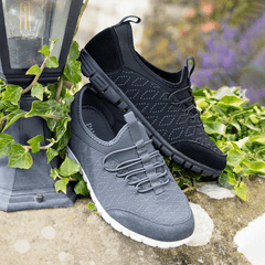 Grey and Black Trainers