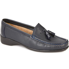 navy loafers womens