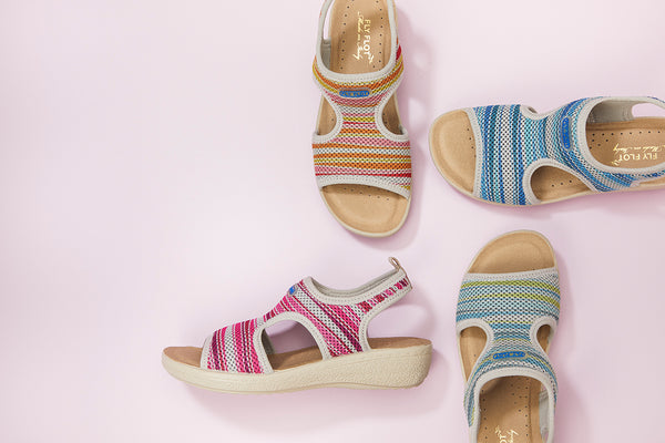 FLY29016 - Stripe Sandal