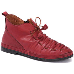 Red Ladies Ankle Boots