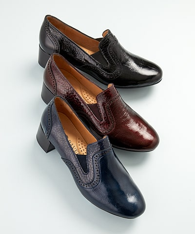 Leather Brogue Slip-On