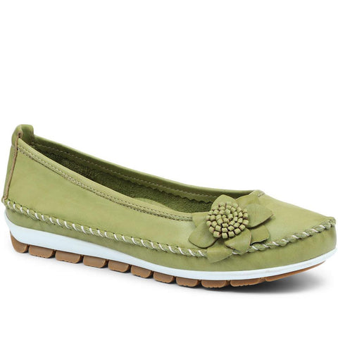 Wide Fit Casual Leather Pumps