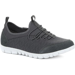 Extra Wide Fit EE+ Ladies Slip-On Trainers