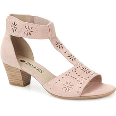 touch-fasten heeled sandal
