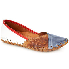 Leather Ladies Slip Ons