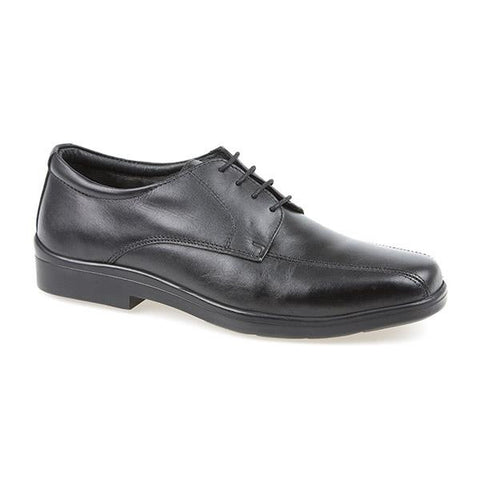 Black Smart Leather Lace Up