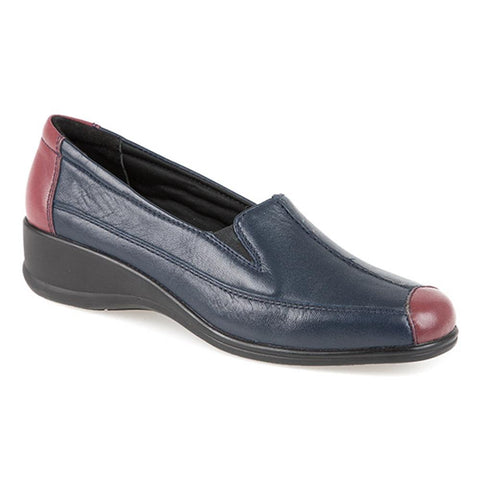Leather Slip On with Contrasting Toe Cap - KF2113 / 305 107