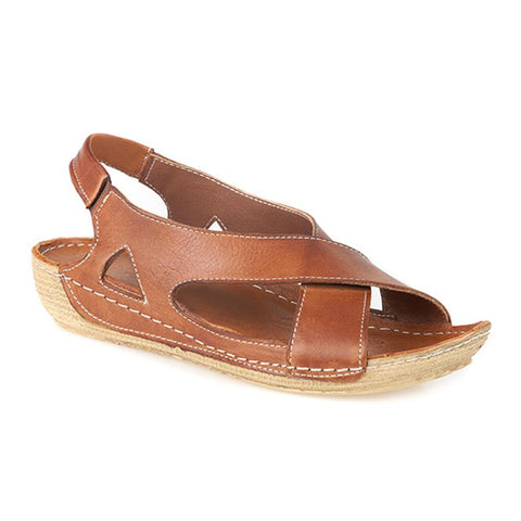 Leather Slingback Sandal with Crossover Upper - LAP1955 / 300 150 Leather Slingback Sandal with Crossover Upper