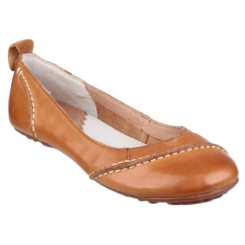 Tan Soft leather uppers with hand stitched details