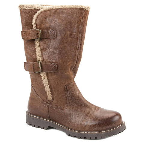 Calf Boot with Double Buckle & Trim - SED1801 / 127 099