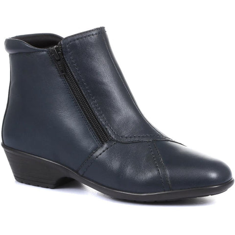 Wider Fit Leather Ankle Boot - HSKEMP1811 / 146 311