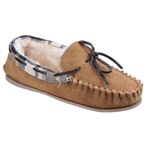 Tan Kilkenny Slip on Moccasin Slipper