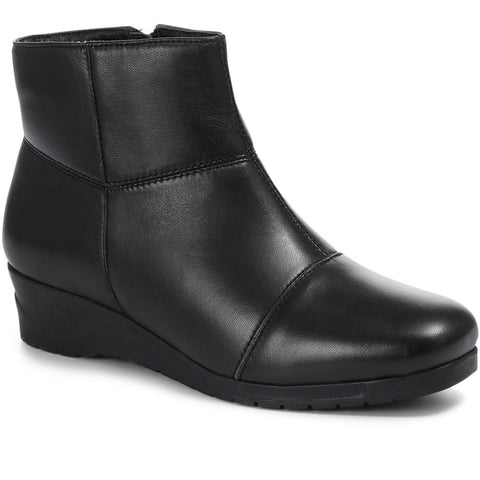 Leather Wedge Ankle Boot - KEM24004 / 308 375
