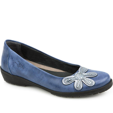 Anatomic Leather Pump with Flower - CALFLY1404 / 123 743