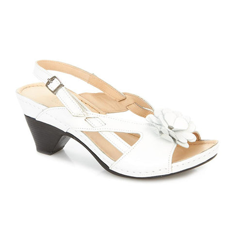 Slingback Sandal with Flower Applique - KARY2101 / 305 243