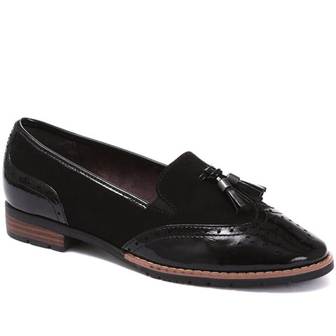 Black Patent and Tassel Loafers