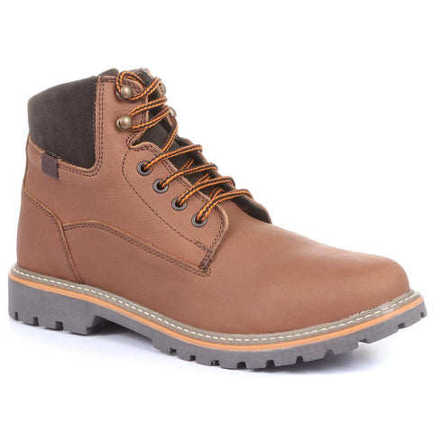 Dark Brown Leather Lace Up Boot