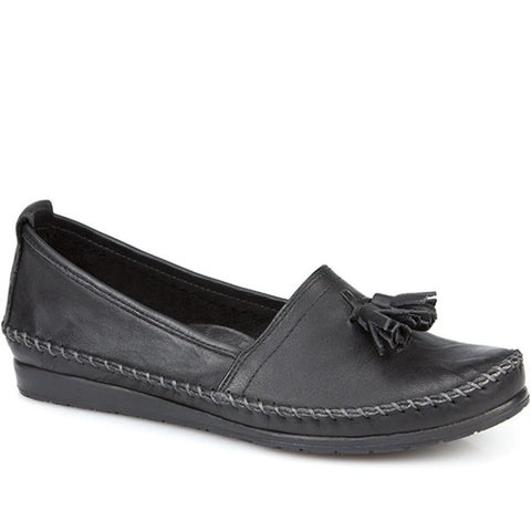 Leather Loafer with Tassel - SIMIN23501 / 308 655