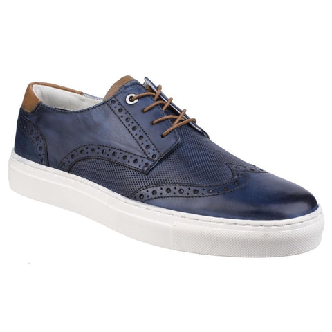 Navy Edwin Brogue Lace Shoe