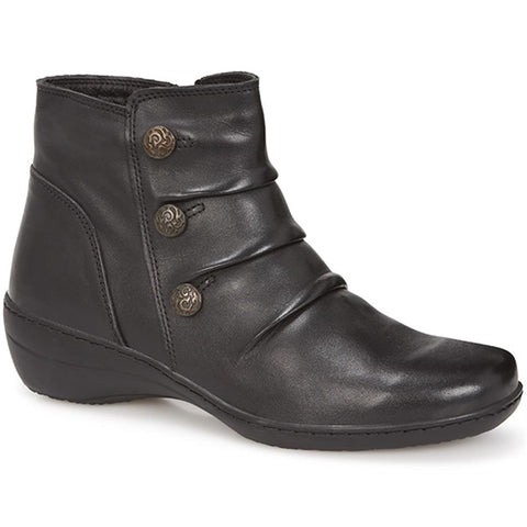 Black Lightweight Leather Ankle Boot