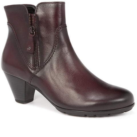 Leather Zip Ankle Boot - GAB28524 / 313 156