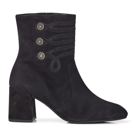Embroidered Leather Ankle Boot - GAB28522 / 313 155