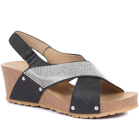 Slingback Sandals with Wedge Heel - BELBAIZH29028 / 315 399