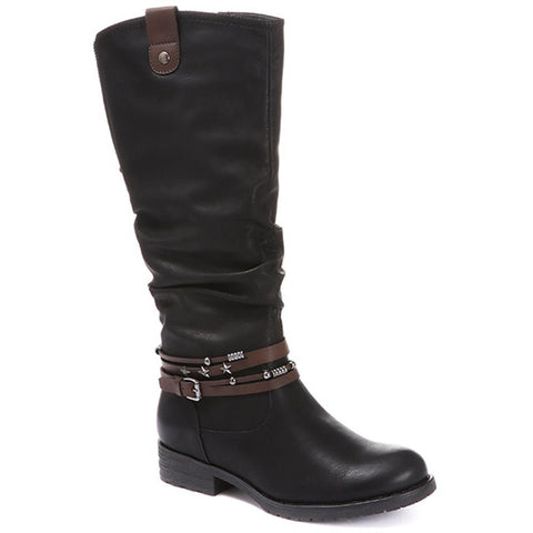 Casual Knee High Boot - WOIL30031 / 316 347