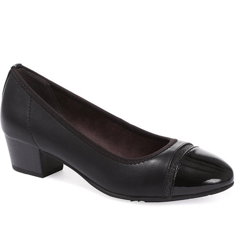 Heeled Leather Court Shoe - JANSP30011 / 315 813
