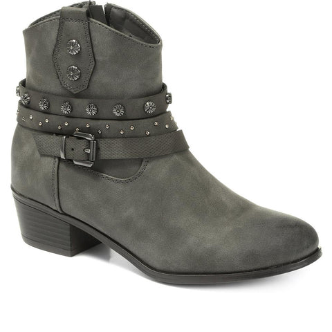 Heeled Western Ankle Boot - BELWOIL30027 / 316 481