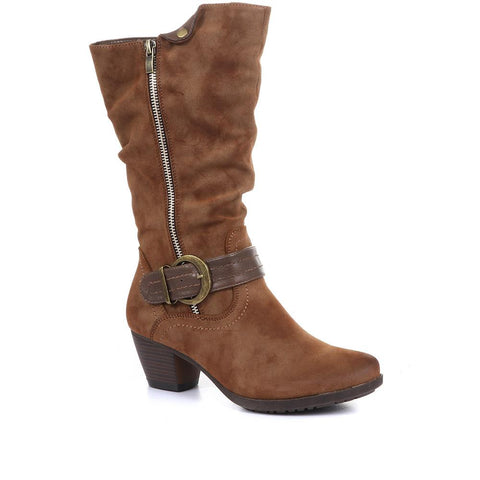 Lightweight Calf Boot with Buckle - SIN26001 / 310 596