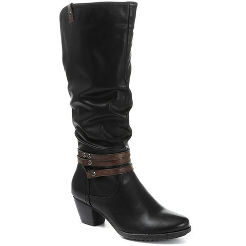 Heeled Knee High Boot - SIN30002 / 316 570