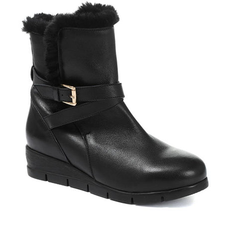 Leather Mid-Calf Boot - GL30006 / 316 782