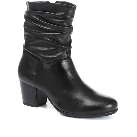 Leather Slouch Ankle Boots - RNB30015 / 316 508