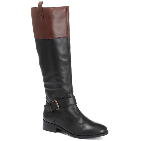 Leather Knee High Rider Boot - SHOEB30000 / 316 611