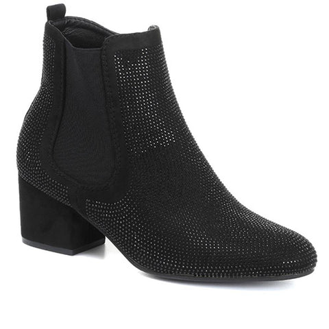 Vegan Friendly Embellished Ankle Boots - HEAV30512 / 316 064