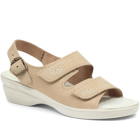 Dual-Fitting Leather Sandal - POLY31007 / 317 664