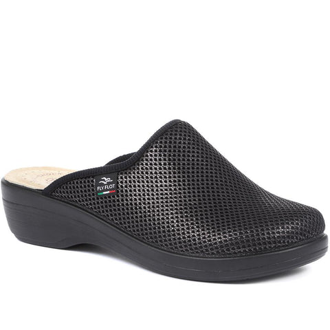 Black Anatomic Wide Fit Clogs for Women
