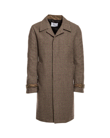 Trench Coat in Houndstooth Camo