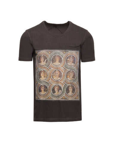 Pocket-Tee mit Mosaikprint